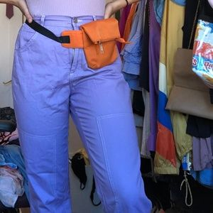 Purple Cargo Pants, Size 8, ASOS Brand